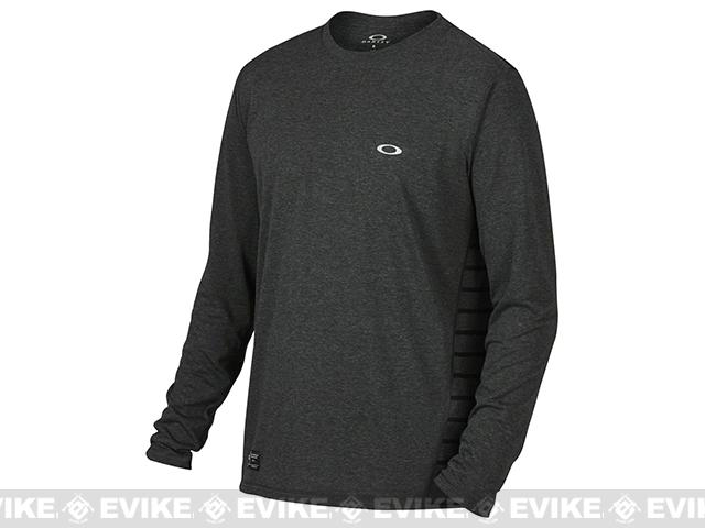 Oakley Exposure LS T-Shirt - Jet Black Heather (Size: X-Large)