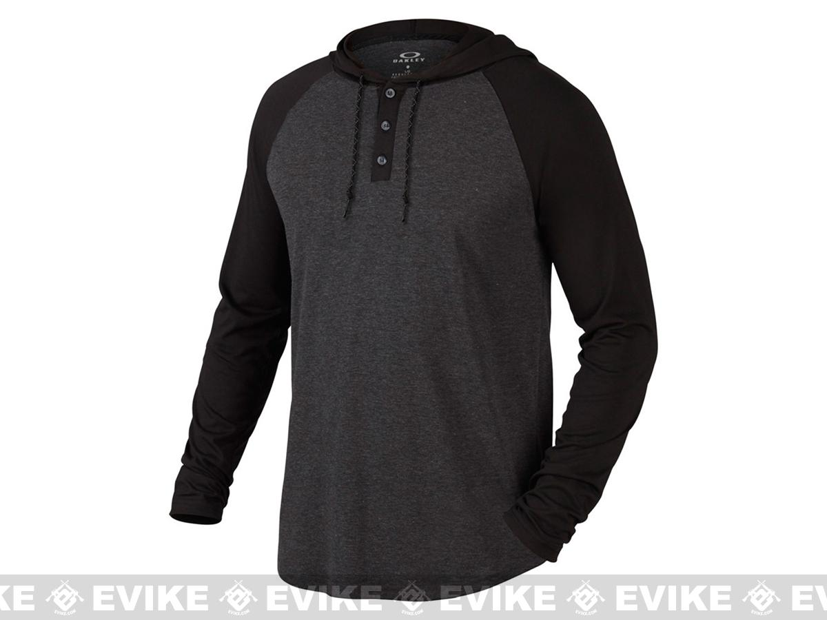 Oakley Saloon Long Sleeve Knit Shirt - Black (Size: Large)