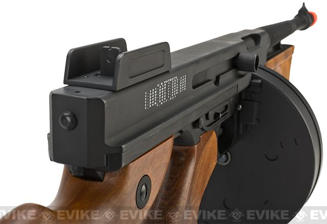 z Cybergun Licensed Thompson Chicago Typewriter Airsoft AEG (Metal Receiver / Gearbox) Package w/ Mosfet