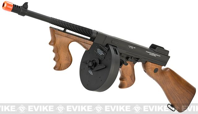 Pre-Order ETA March 2017 Cybergun Licensed Thompson Chicago Typewriter  Airsoft AEG Rifle w/ Drum Mag - (Package: Gun Only)