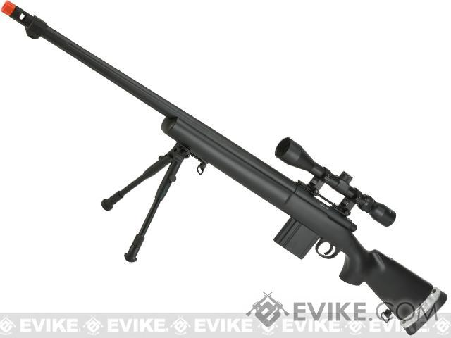 WELL MB4405A Bolt Action Airsoft Sniper Rifle - Black