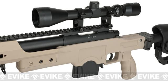WELL MB4411D Bolt Action Airsoft Sniper Rifle - Tan (Package: Rifle)