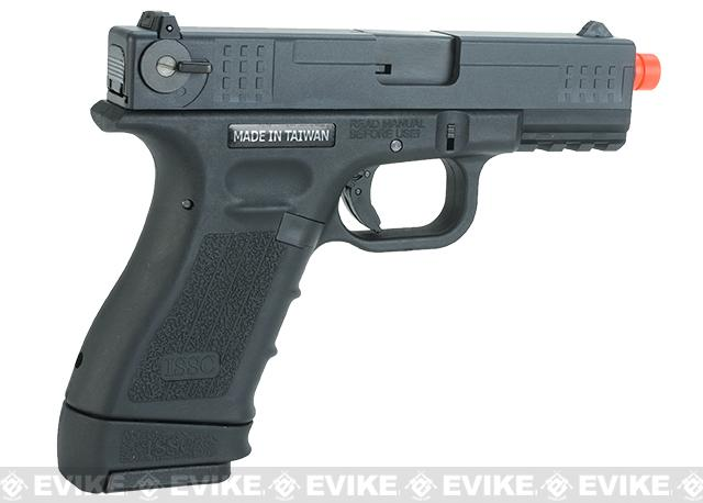 ISSC Licensed M-22 Full Metal Airsoft GBB Gas Blowback Pistol by WE - Black (CO2 Mag)