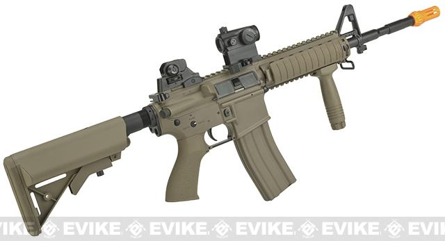 G&G TR15 Raider-L Airsoft Electric Blowback AEG Rifle - Tan (Package: Add 9.6 Butterfly Battery + Smart Charger)