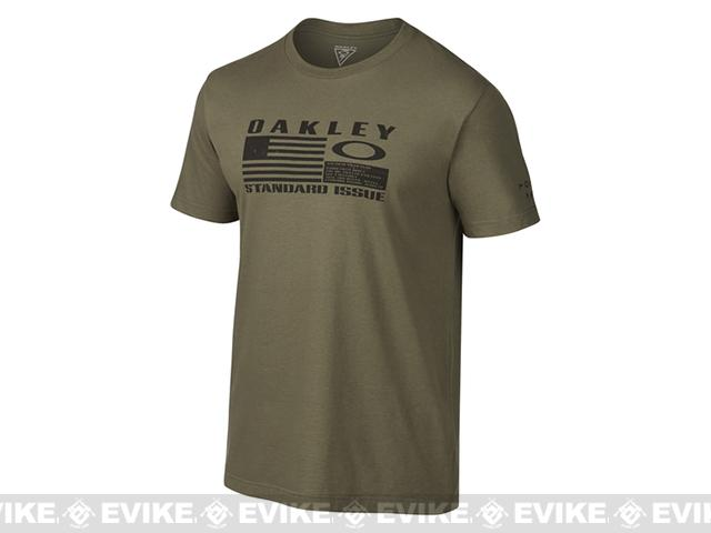 z Oakley Flag T-shirt - Worn Olive / Small