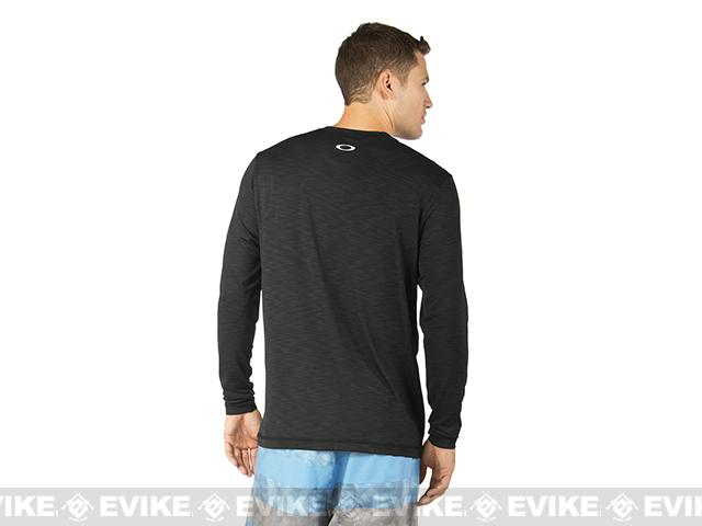 Oakley Surf Long Sleeve T-Shirt - Jet Black (Size: X-Large)