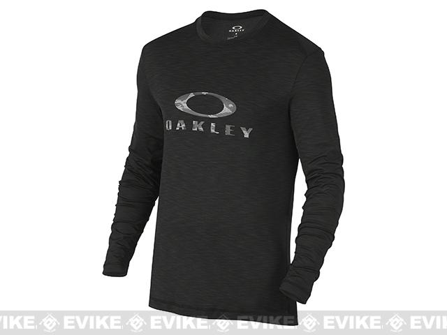 Oakley Surf Long Sleeve T-Shirt - Jet Black (Size: Large)