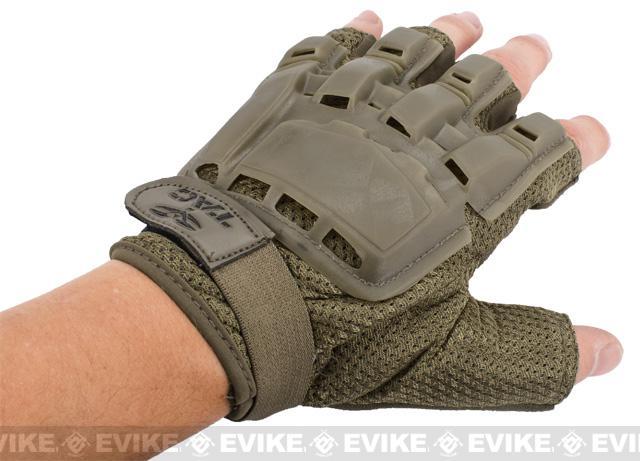Matrix Half Finger Tactical Gloves - Tan (Size: XS/S)