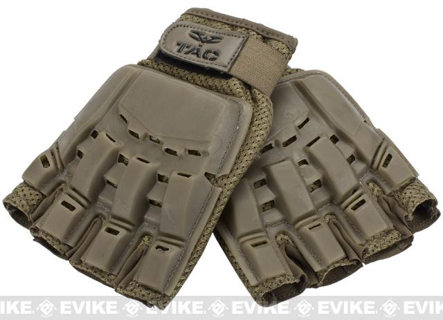 Valken Half Finger Tactical Gloves - Tan / XL-2XL