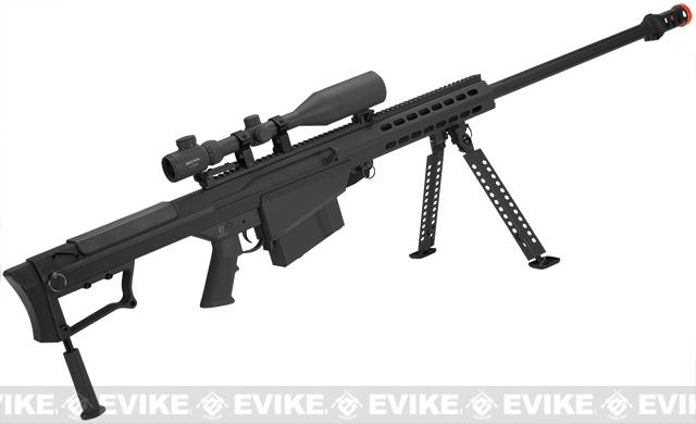 6mmProShop Custom Long Range Airsoft AEG Sniper Rifle (V.2 Gearbox) - Black / Long Barrel
