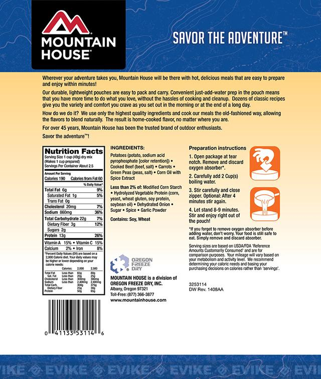 Mountain House Freeze Dried Entree- Beef Stew
