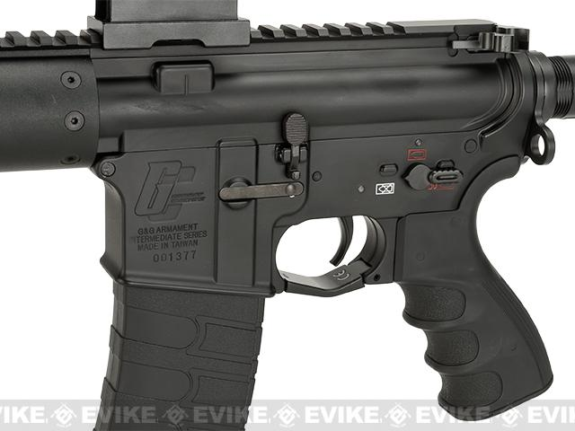 G&G GC16 12 Carbine FFR12 Airsoft AEG M4 Combo - Black (Package: Add 9.6 Butterfly Battery + Smart Charger)