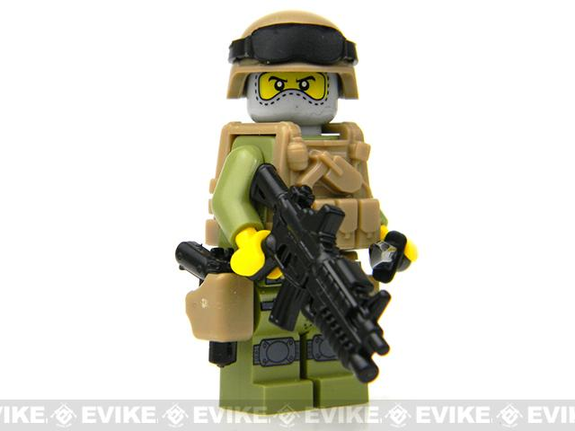 Battle Brick Customs Military Mini-Figure - Force Recon Special Forces Marine