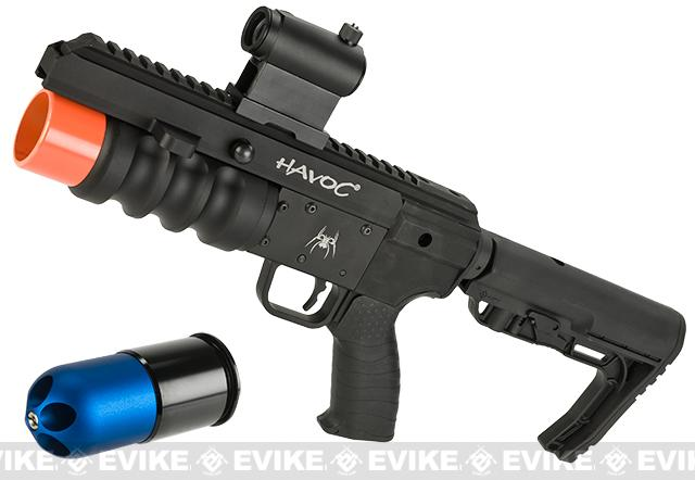 Madbull Airsoft Spikes Tactical 9 Havoc Grenade launcher kit w/ Grenade