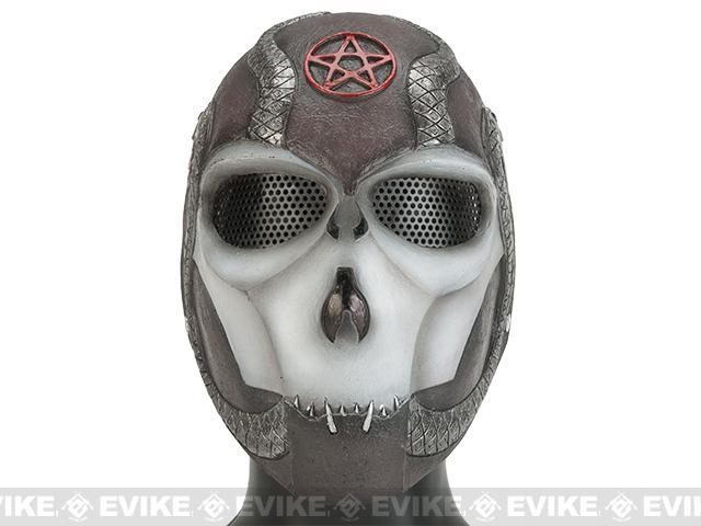 Evike.com R-Custom Fiberglass Wire Mesh Snake Eater Full Face Mask - Black and White