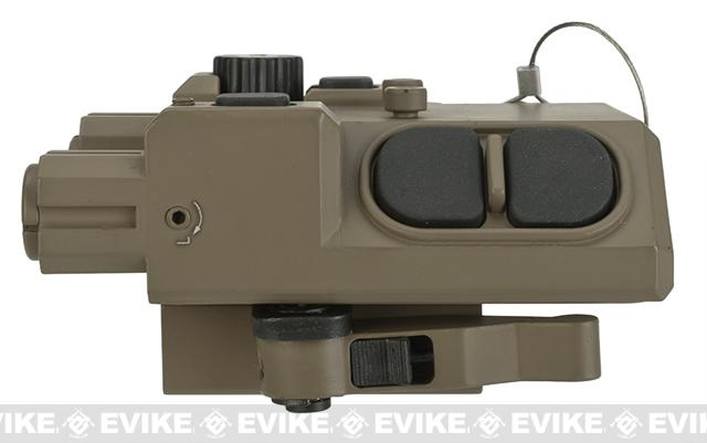 Vism L2 PEQ Light Laser Combo with Green laser and Map Lights - Tan