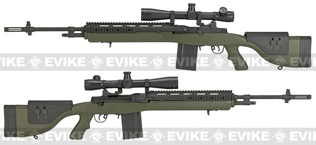 Pre-Order ETA March 2017 G&P M14 DMR Custom Airsoft AEG Sniper Rifle - Foliage Green (Package: Add Battery + Charger)