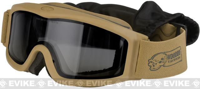 Voodoo Tactical Full Seal Tactical Goggle Kit with Three Lenses - Coyote