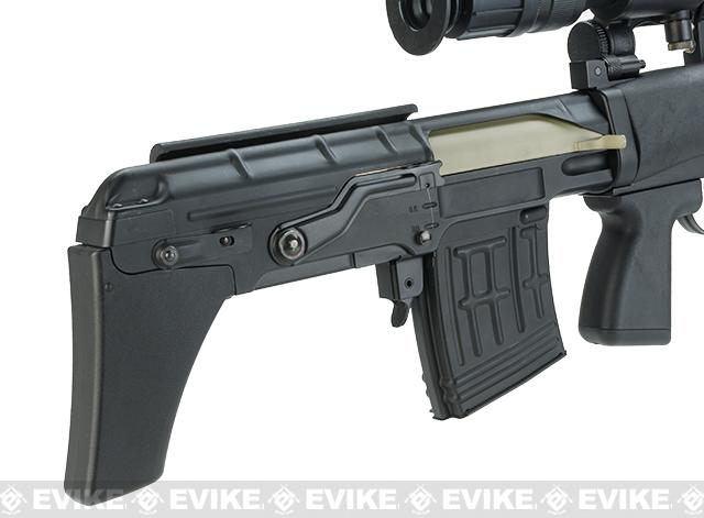 ASP OTs-03 SVU Airsoft Bullpup Sniper Rifle AEG with Integrated Bipod