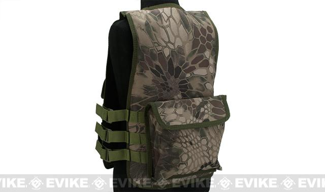 Matrix Childrens Size Tactical Zipper Vest w/ Integrated Magazine Pouches - Woodland Serpent