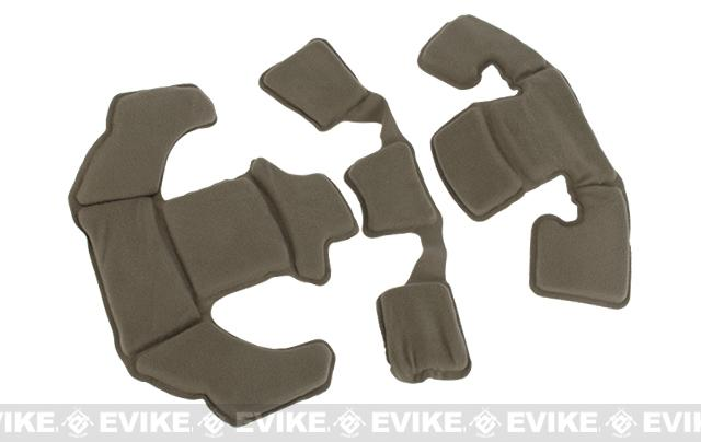 FMA Upgraded Memory Foam Helmet Pad Inserts - Dark Earth