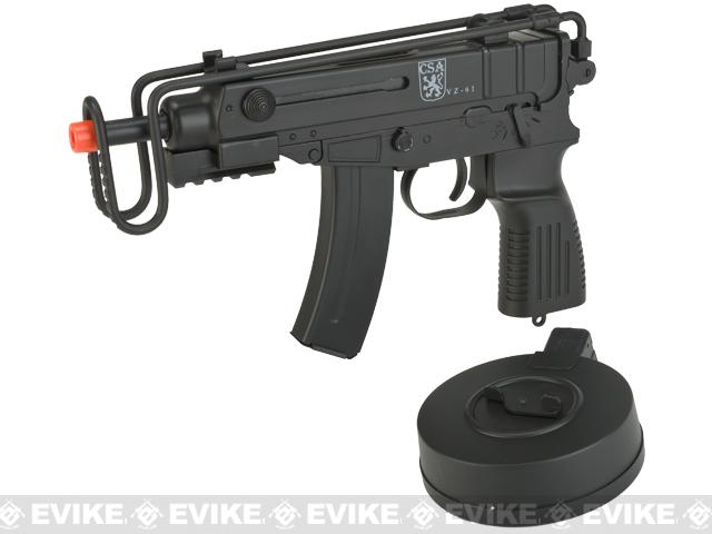 Pre-Order ETA June 2017 CSA Vz. 61 Scorpion Machine Pistol AEP with Drum Magazine by Tolmar (V2)