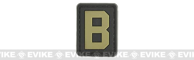Evike.com PVC Hook and Loop Letter Patch - B (Black / Tan)