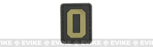 Evike.com PVC Hook and Loop Letter Patch - O (Black / Tan)