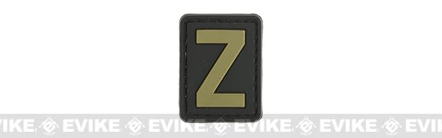 Evike.com PVC Hook and Loop Letter Patch - Z (Black / Tan)