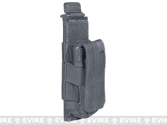 5.11 Tactical Single Pistol Bungee Cover Magazine Pouch - Storm