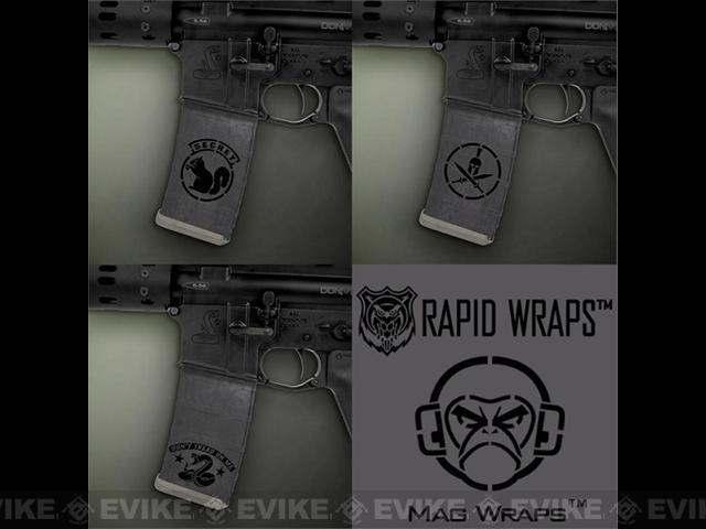 US NightVision Mag Wraps™ Rapid Wraps - Mil Spec Monkey: Gun Metal / Black