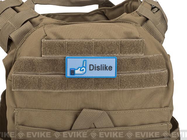Dislike IFF PVC Hook & Loop Morale Patch - Blue