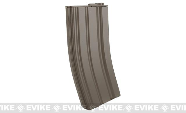 E&C 160rd Metal Mid-Cap Magazine for M4 M16 Series Airsoft AEG Rifles - Dark Earth