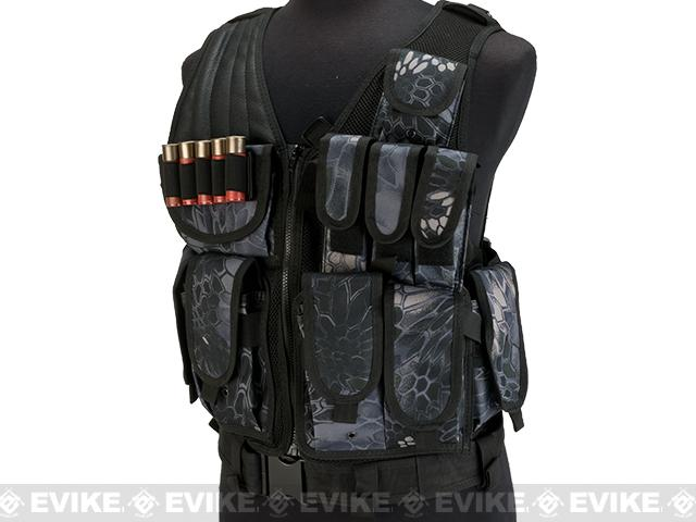 Matrix Special Force Cross Draw Tactical Vest w/ Built In Holster & Mag Pouches - Urban Serpent