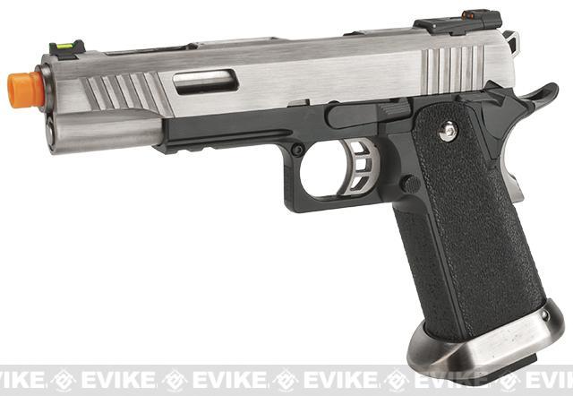 WE-Tech Hi-Capa 5.1 T-Rex Competition Pistol - Silver