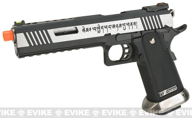 WE-Tech Hi-Capa 6 IREX Competition Pistol - Two- Tone / Silver Barrel