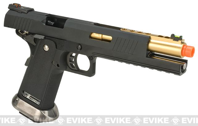 WE-Tech Hi-Capa 6 IREX Competition Pistol - Black  / Gold Barrel (Sterile Version)