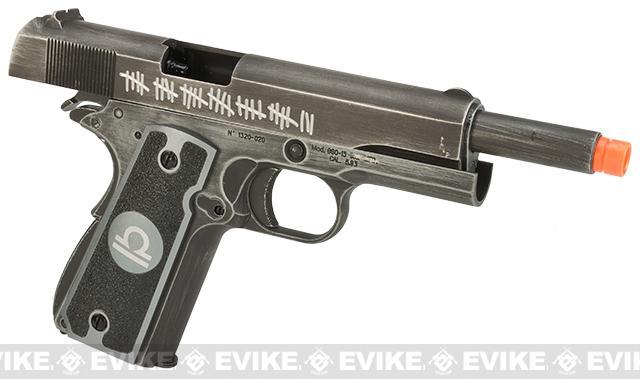 Pre-Order ETA May 2017 Evike.com Nostradamus Custom Armorer Works Molon Labe Gas Blowback Airsoft Pistol with Angel Custom Tac-Glove Grips (Sign: Libra)