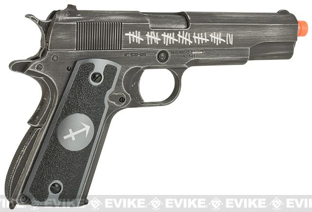 Pre-Order ETA May 2017 Evike.com Nostradamus Custom Armorer Works Molon Labe Gas Blowback Airsoft Pistol with Angel Custom Tac-Glove Grips (Sign: Sagittarius)