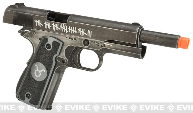 Pre-Order ETA July 2017 Evike.com Nostradamus Custom Armorer Works Molon Labe Gas Blowback Airsoft Pistol with Angel Custom Tac-Glove Grips (Sign: Taurus)