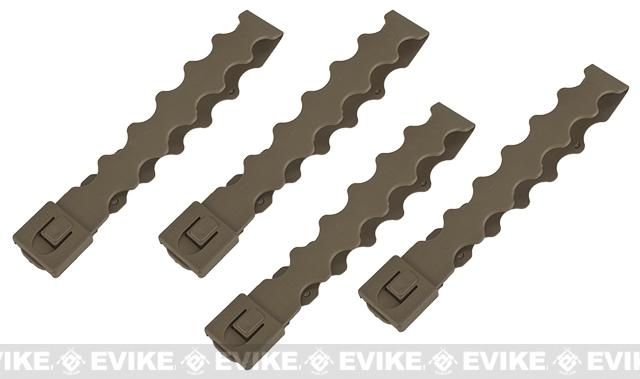 Tactical Tailor Fight Light MALICE Modular Webbing Clips (Long) - Coyote/ Set of 4