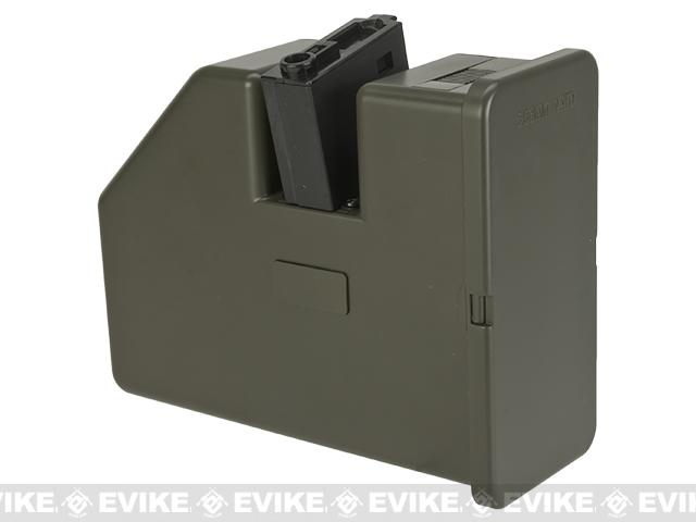 Pre-Order ETA June 2017 Krytac AEG LMG 3500rd Electric Winding Box Magazine for LMG Airsoft Machine Guns