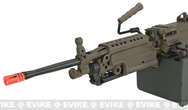 Pre-Order ETA October 2016 A&K Full Metal M249 MK-II SAW Airsoft AEG with Electric Drum Magazine - Tan