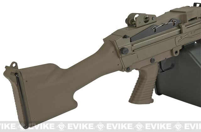 A&K Full Metal M249 MK-II SAW Airsoft AEG with Electric Drum Magazine - Tan
