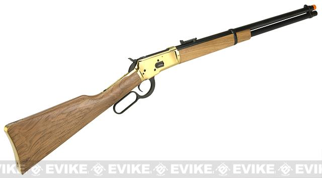 Marushin Full Metal Gas Powered Lever Action 1892 Rifle with Wood Furniture - DX Gold