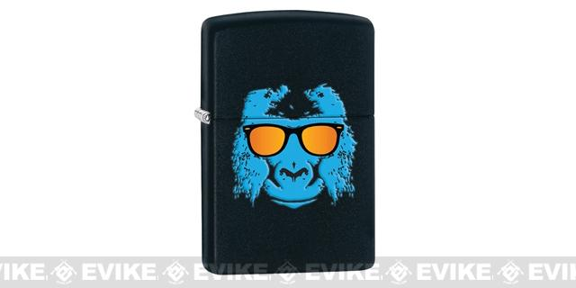 Zippo Classic Lighter - Ape with Shades (Matte Black)