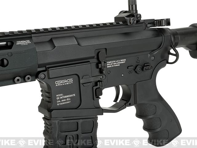 G&G GC16 Predator Full Metal Airsoft AEG Rifle with Keymod Rail - Black (Package: Basic Starter Package)