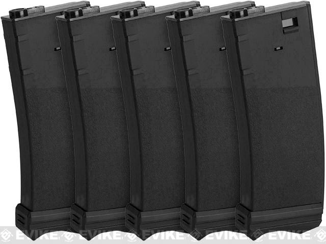 Modify XTC 190rnd Mid-Cap AEG Magazine for M4/M16 Airsoft AEG rifles - Box of 5 (Black)