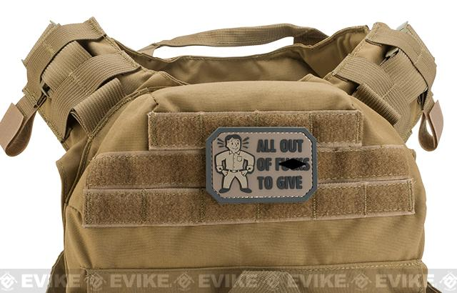 Mil-Spec Monkey All Out of F's PVC Morale Patch - Dark ACU