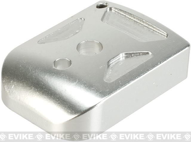 5KU Type-1  Aluminum Magazine Base for 5.1 Hi-Capa Series Airsoft GBB Pistol Magazines -  Silver